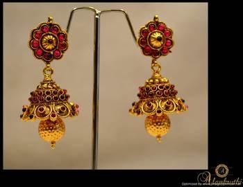 Temple Jewellery - Jhumka 6