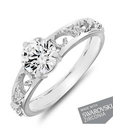 Buy Mahi hodium Plated Remarkable Solitaire Ring gifts-for-girlfriend online