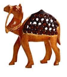 Buy Carved Wooden Camel Showpiece home-decor online