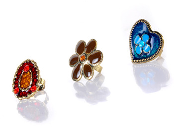 Combo of Floral & Heart Rings