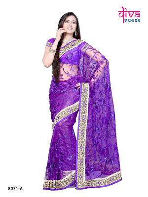 Rani Mukherjee Style Bollywood Designer Saree made from Super NET fabric