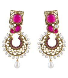 Buy Rhodium earrings danglers-drop online