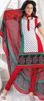 Crepe dress material elegant designer unstitched salwar suit d.no 8006