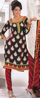 Crepe dress material elegant designer unstitched salwar suit d.no 8014