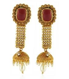 Buy Vintage Gold plated kundan jhumka jhumka online