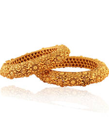 Buy Fab Gold plated Antique Bangle bangles-and-bracelet online