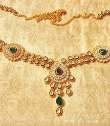 Buy Royal Designer Multicolour Kundan waist belt kamarband wedding jewelry waist-belt online