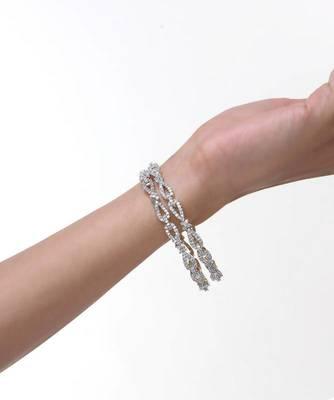 Diamond Look Zircon Bangle Set of 2