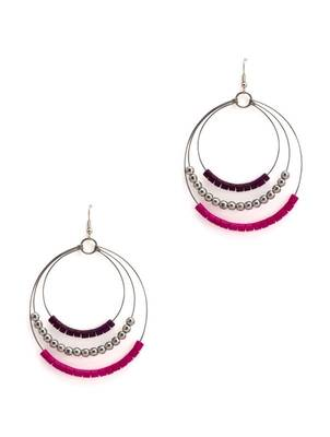ART MANNIA round Earrings- PINK