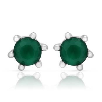 Mahi Emerald Studs