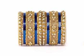Intricate two hand bangle set