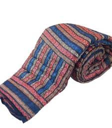 Buy Attractive Handblock Print Cotton Double Bed Quilt Diwali Gift 318 razai online