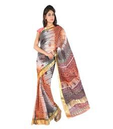Buy Golden Border Floral Print Fancy Kota Doria Saree Diwali Gift 226 diwali-sarees-collection online