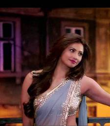 Buy Daisy Shah Bollywood Designer Grey Georgette Saree Deepawali Gift 570 diwali-sarees-collection online