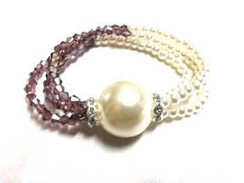 Elegant & pretty pearl bracelet