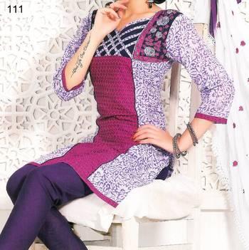 Embroidered Cotton Salwar Material - Embroidery - Riyaa 902777