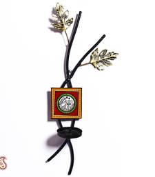 Buy Diwali Gifts Leaf Shape Candle Holder with Antique Finish diwali-gift-hampers-idea online