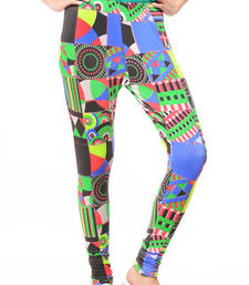 Buy multicolor Women's Printed Leggings ethnic-bottom online