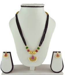 Buy Special Kolhapuri Mangalsutra and Earring Set mangalsutra online