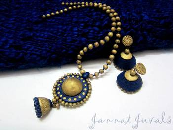 Blue and Antique Gold Heavy set