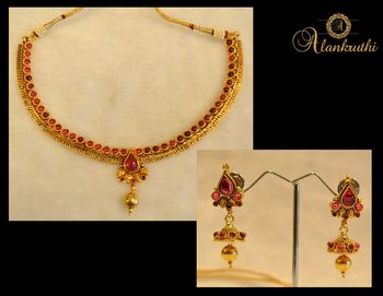New Temple Jewellery Necklace Set 7