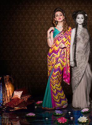 Party Wear Designer Printed Saree Dyna786a