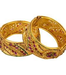 Buy Golden free size bangle set bangles-and-bracelet online