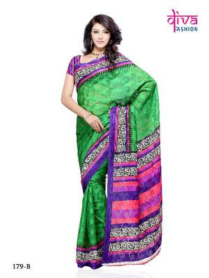 Amazing Designer Casual/Office Wear Saree made from Brasso by Diva Fashion, Surat