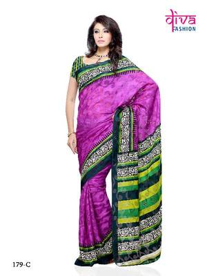 Mesmerizing Casual/Office Wear Saree made From Brasso by Diva Fashion, Surat