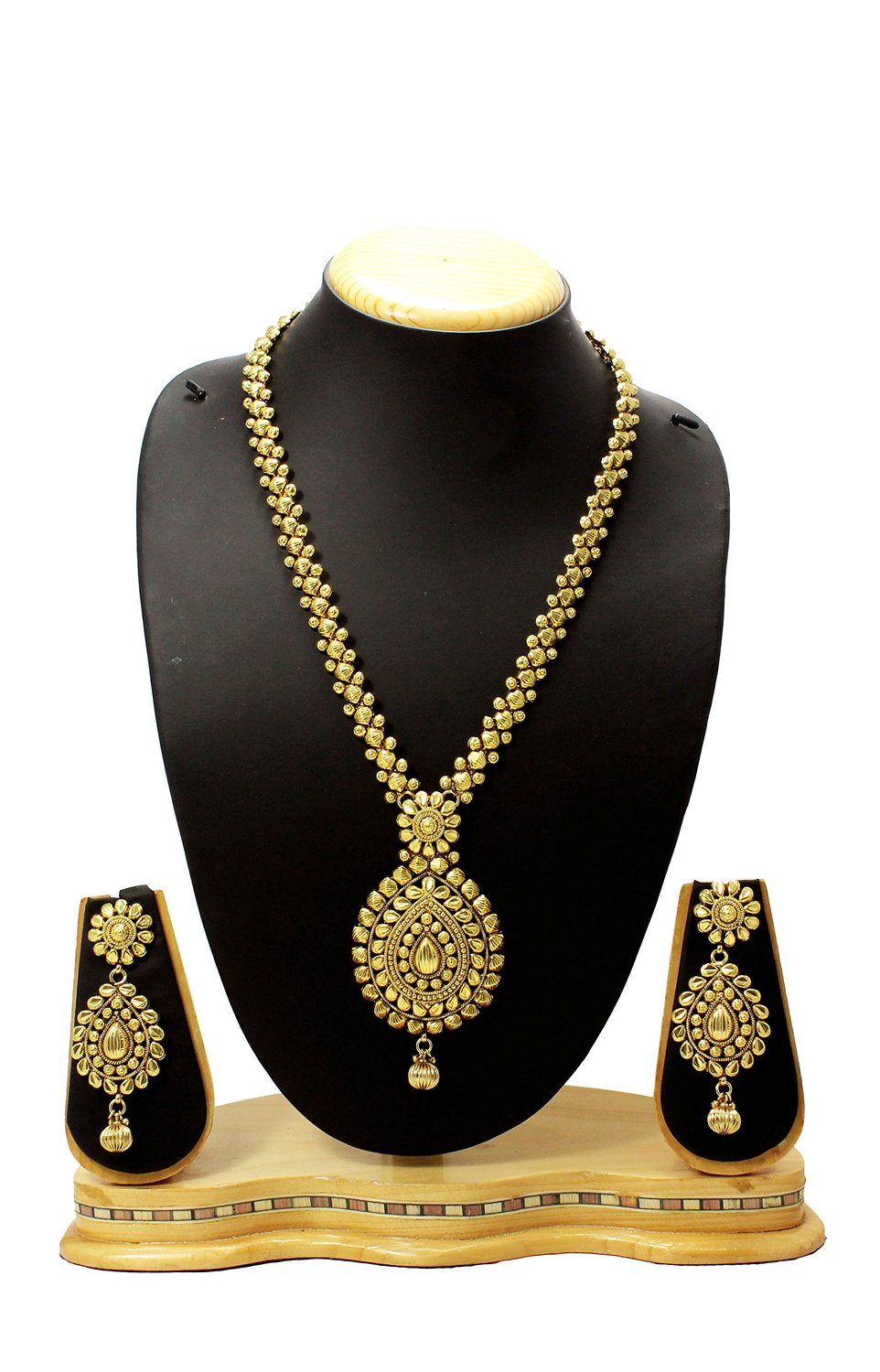 Buy Antique & Traditional Modern Style Long Bridal Necklace Set ...