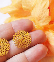 Buy Gold CutworkFlower Filigree Studs stud online