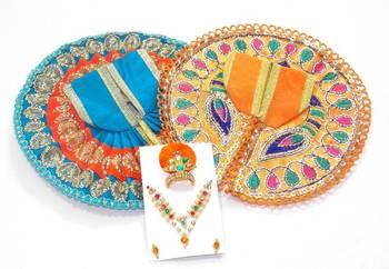 6.5'' Zari And Thread Work Poshak And Shringar