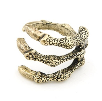 Bronze claw ring
