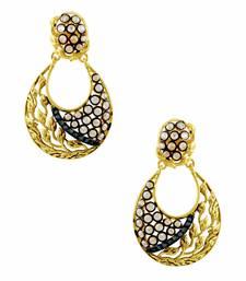 Buy Navy Blue Traditional Rajwadi Dangle Earrings Jewellery for Women - Orniza danglers-drop online