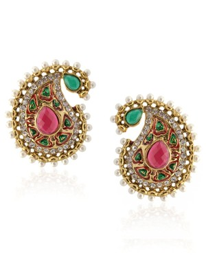 Paisley Pink Pearl Delight Earring-RAE0016