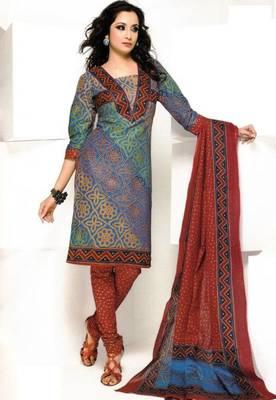 Dress material cotton designer prints unstitched salwar kameez suit d.no 1843