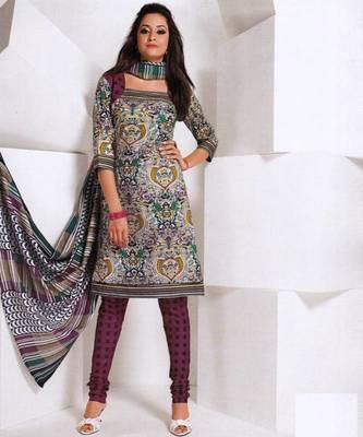 Dress material cotton designer prints unstitched salwar kameez suit d.no 1845