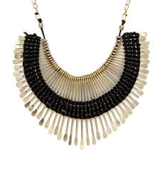 Buy Black Spikes thread necklace Necklace online