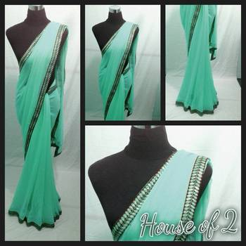 Sky green saree