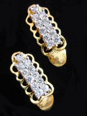 Maayra Golden Office AD Earrings