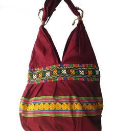 Buy Red color Kuchi Work Hand Bag tote-bag online