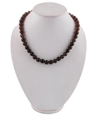 """Tranquil 18"""" Smoky Quartz Gemstone Beads Necklace"""