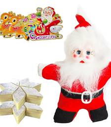 Buy Santa Claus wid 200gm Kaju Katli Christmas Hamper 121 christmas-gift online