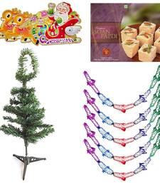 Buy Christmas Tree n Garland wid 200gm Soan Papdi Gift 122 christmas-gift online