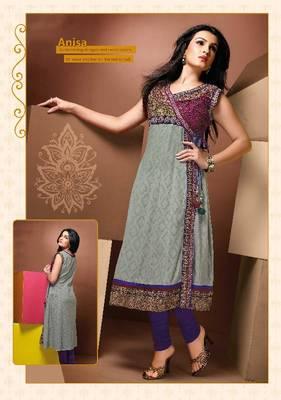 ISHIN Cotton Multicolor kurti Anisa_M