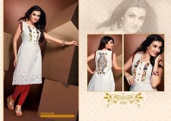ISHIN Cotton White kurti Shanaya_M