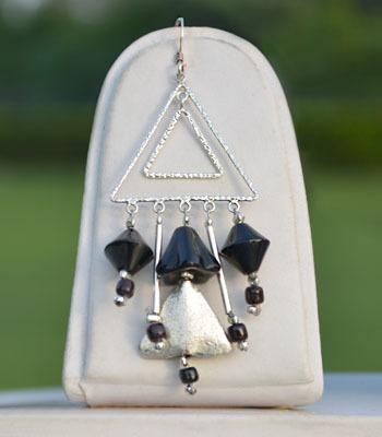 Black Pyramid Earrings.