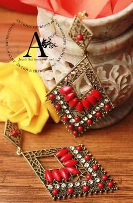 Eligant royal red chandelier crystals