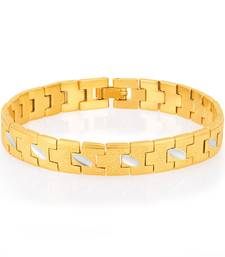 Buy Creative Gold and Rhodium Plated Bracelet For Men Bracelet online