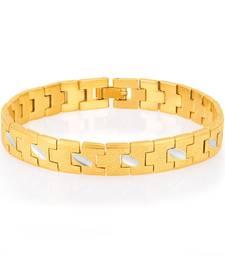 Buy Creative Gold and Rhodium Plated Bracelet For Men men-bracelet online